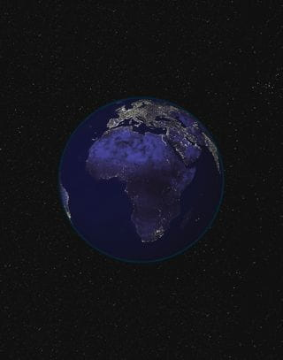 Africa lights by night